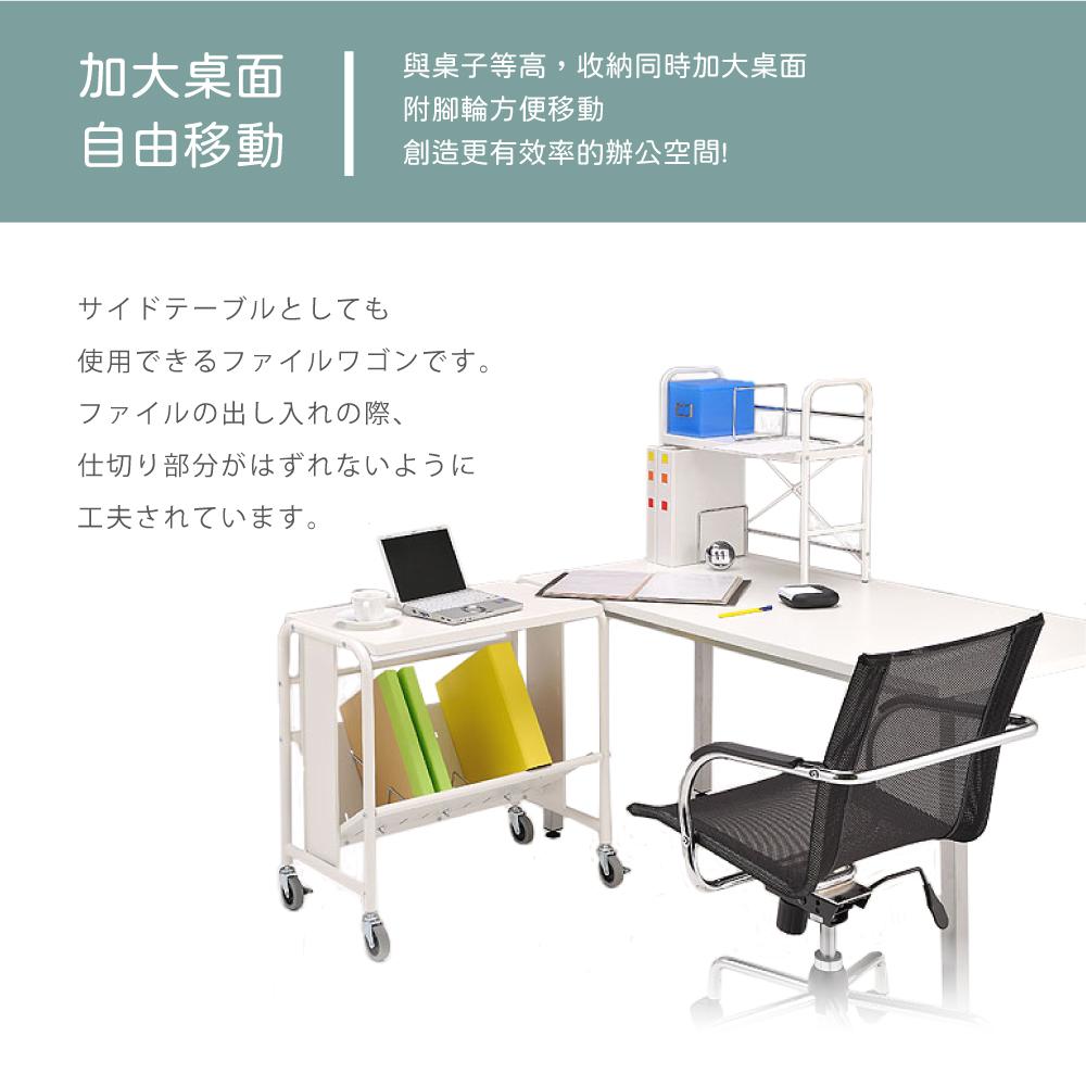 桌面式耐重型單層文件推車