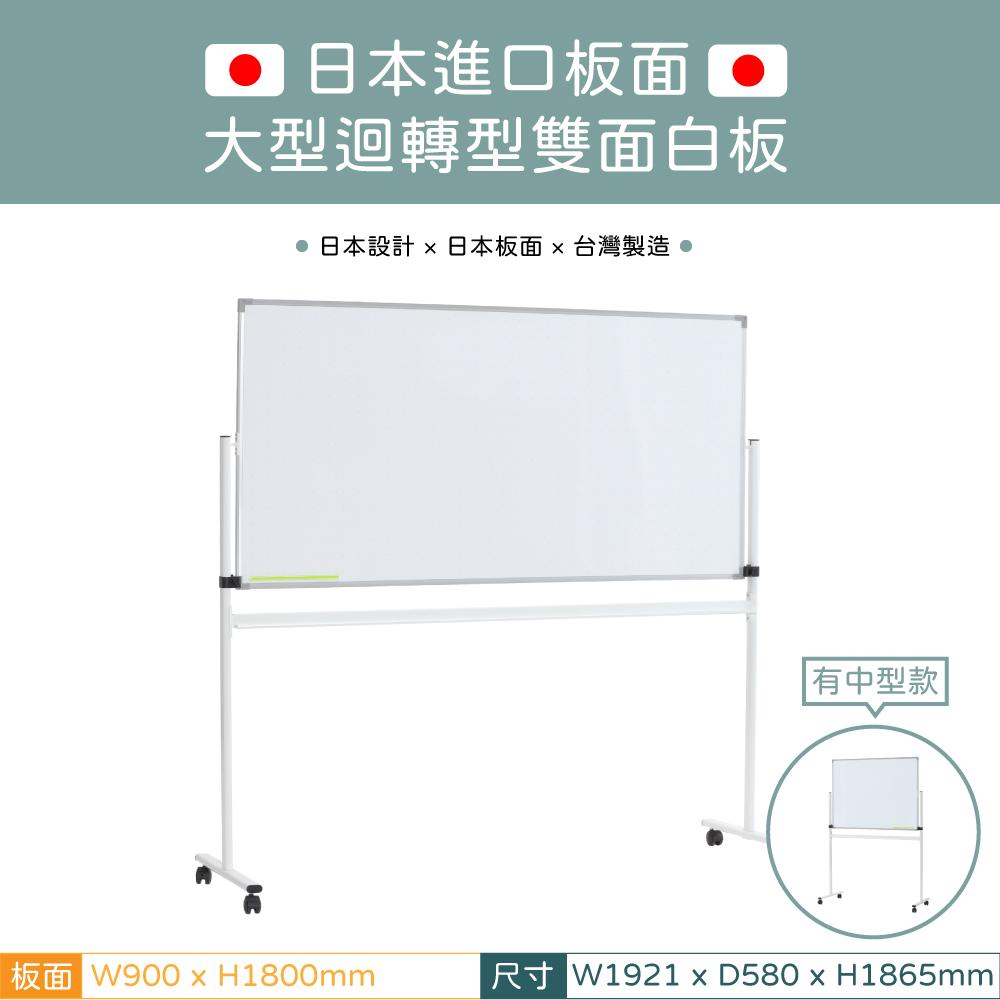 中型迴轉型雙面白板