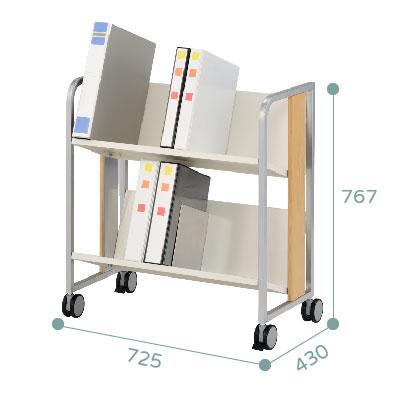 木紋飾條耐重型雙層文件推車