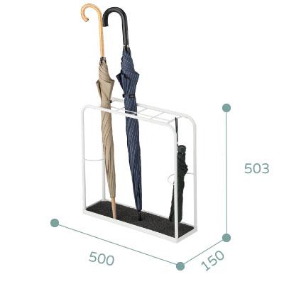 白色簡潔設計傘架